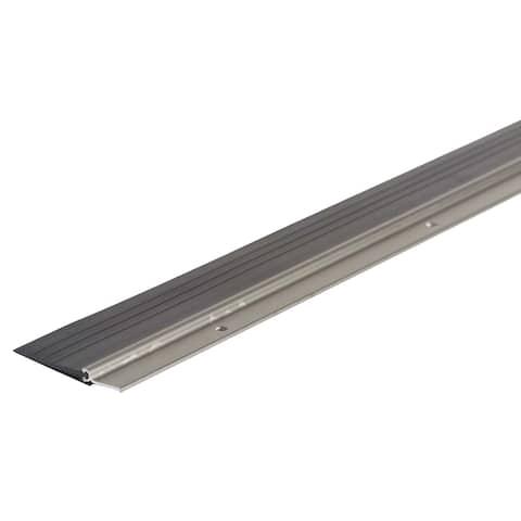 """M-D 25716 36"""" Satin Nickel Heavy Duty Door Sweep With Vinyl Seal"""