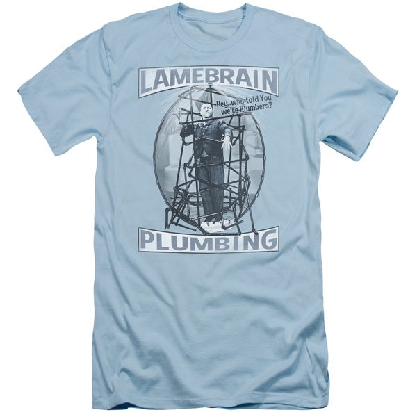 05b4ead4c1 Three Stooges/Lanebrain Plumbing Short Sleeve Adult T-Shirt 30/1 in Light
