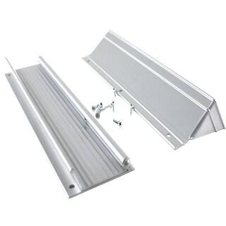 """M-D 28555 13"""" Satin Aluminum Mail Drop With Flap & Hood"""