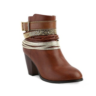 Olivia Miller Women's Concourse Multi Strap Ankle Booties