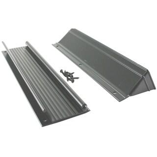 "M-D 28571 13"" Black Aluminum Mail Drop With Flap & Hood"