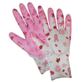 Magid Glove BC314TL Breast Cancer Foundation Nitrile Coated Utility Gloves