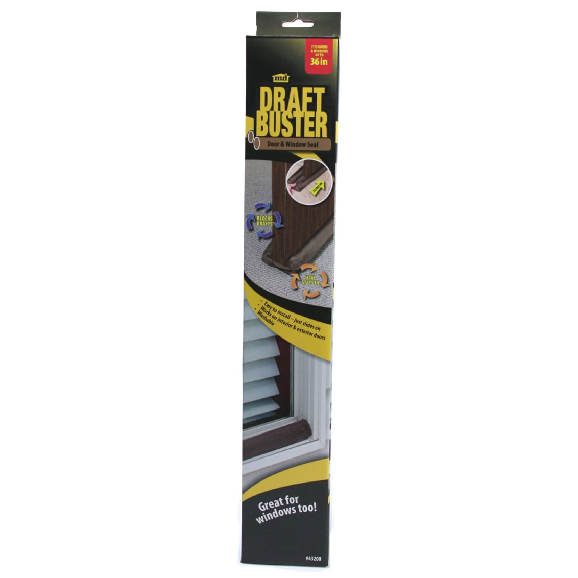 M-D 43200 Brown Draft Buster Door & Window Seal (Door Acc...