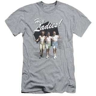 Three Stooges/Hey Ladies Short Sleeve Adult T-Shirt 30/1 in Athletic Heather