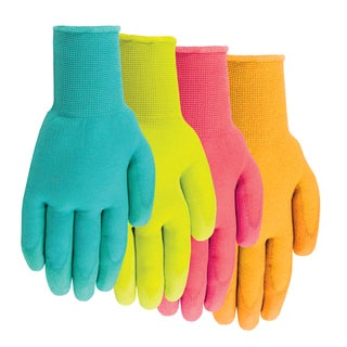 Midwest Glove 62F6-M-JD-12 Medium Ladies Polyurethane Coated Gloves Assorted Colors