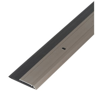 "M-D 48996 36"" Satin Nickel Heavy Duty Aluminum & Vinyl Door Sweep"