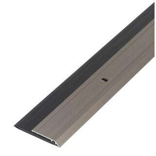"""M-D 48996 36"""" Satin Nickel Heavy Duty Aluminum & Vinyl Door Sweep"""