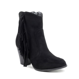 Olivia Miller Women's Hylan Side Fringe Booties