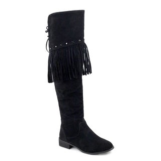 Olivia Miller Woodhaven Fringe Over-knee Boots