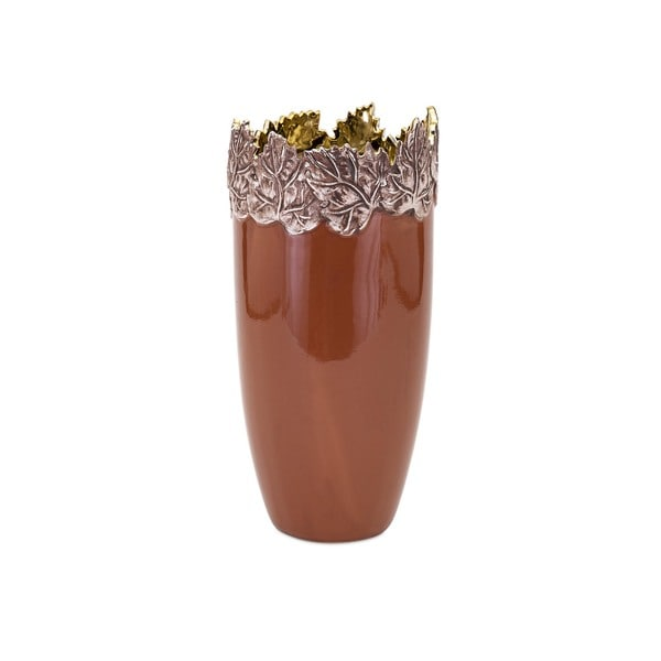 Concepts Eden Small Embossed Leaf Vase