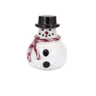 Sammy Small Glass Snowman Holiday Decoration
