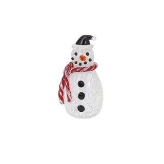 Frosty Small Glass Snowman Holiday Decoration