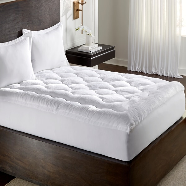 Shop Mgm Grand Hotel At Home 2 5 Overfilled Micro Plush Fiberbed