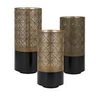 Manhattan Pierced Outdoor Lanterns (Set of 3)