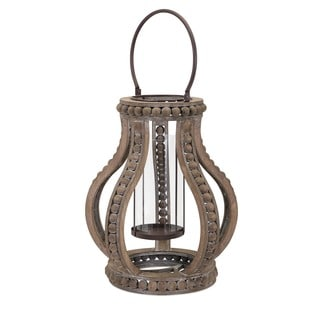 Akiko Large Wooden Lantern