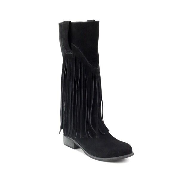 Olivia Miller Liberty Women's ... Fringe Riding Boots d0dt6LXD5F