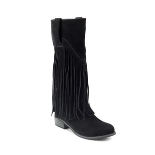 Olivia Miller Women's Liberty Fringe Riding Boots