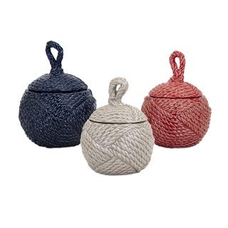 Finn Ceramic Knot Jars (Set of 3)