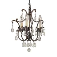 Feiss Maison De Ville 3 Light British Bronze Chandelier