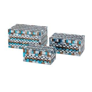 Cordelia Glass Mosaic Boxes (Set of 3)