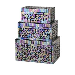 Marella Glass Mosaic Boxes (Set of 3)
