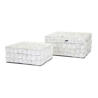 Barbuda Shell Boxes (Set of 2)