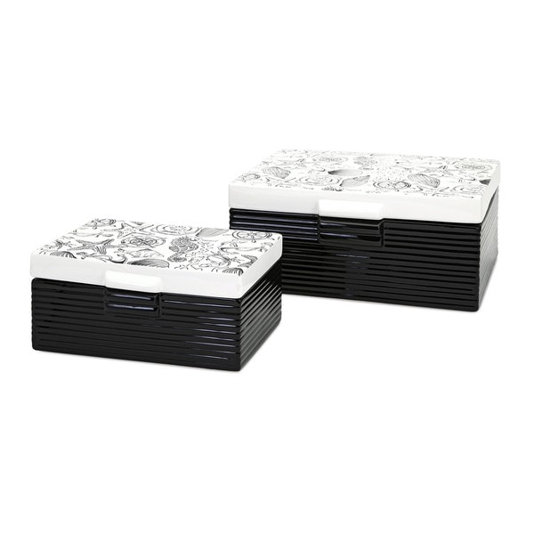 Bartlett Ceramic Boxes (Set of 2)