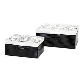 Bartlett Ceramic Boxes (Set of 2)