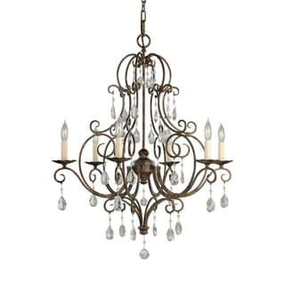 Feiss Chateau 6 Light Mocha Bronze Chandelier