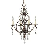 Feiss Chateau 4 Light Mocha Bronze Chandelier