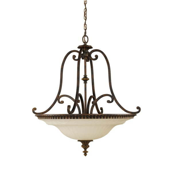 Feiss Drawing Room 4 Light Walnut Chandelier - Light Walnut