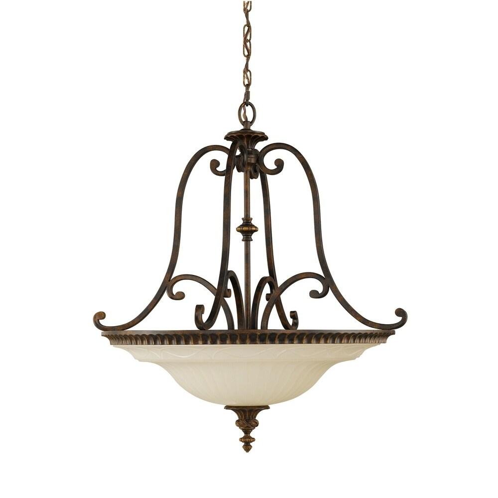 Feiss Lighting Thayer 5 Light Linear Chandelier in Antique