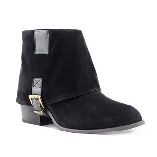 Olivia Miller Cypress Fold-over Buckle Booties