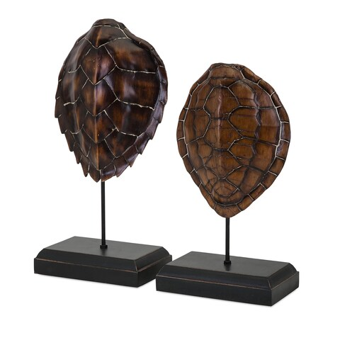 Sanem Turtle Shells on Stands (Set of 2)