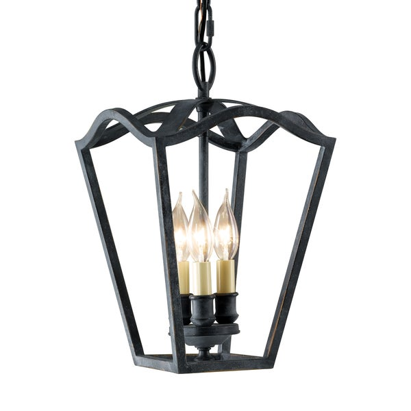 Shop feiss kings table 3 light antique forged iron chandelier feiss kingx27s table 3 light antique forged iron chandelier aloadofball Choice Image
