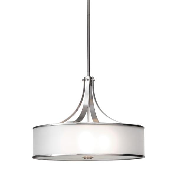 Feiss Casual Luxury 4 Light Brushed Steel Chandelier - Brushed Steel