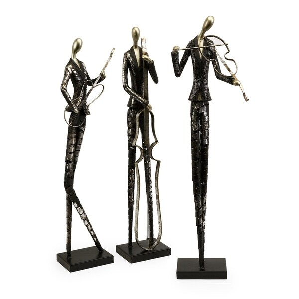 Charming Jazz Club Musician Statuaries - Set of 3
