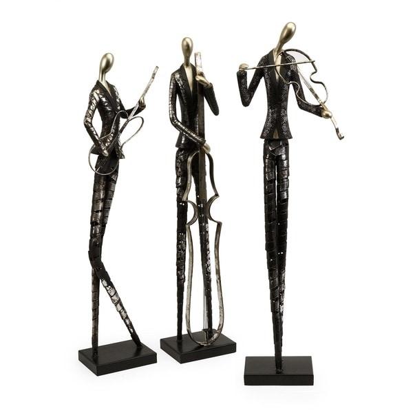 Jazz Club Musician Statuaries (Set of 3)