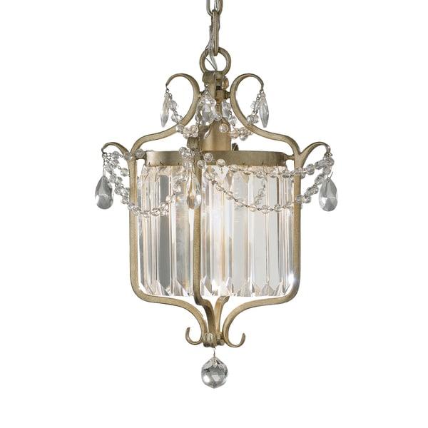 Feiss Gianna 1 Light Gilded Silver Chandelier