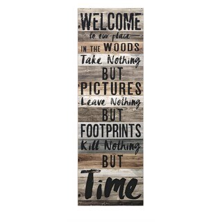 Welcome to the Woods Wall Decor