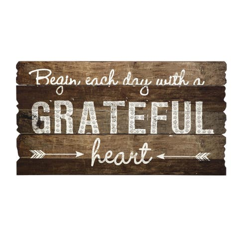 Grateful Heart Wall Decor