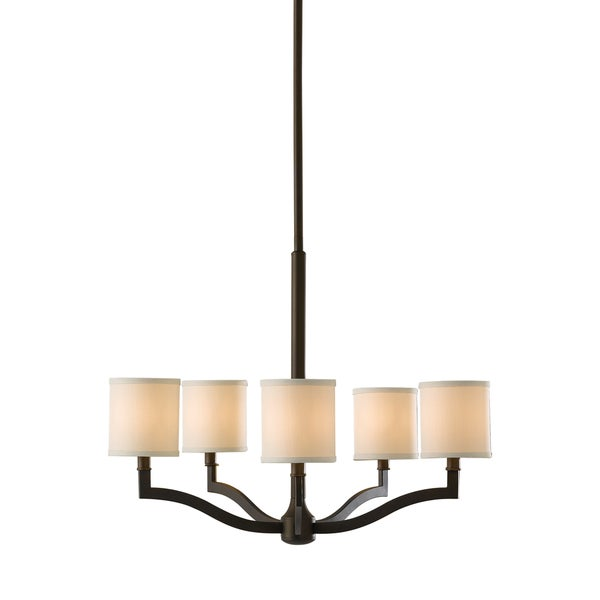 Feiss Stelle 5 Light Oil Rubbed Bronze Chandelier