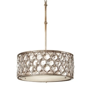 Feiss Lucia 3 Light Burnished Silver Chandelier