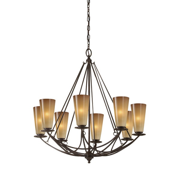 Feiss El Nido 8 Light Mocha Bronze Chandelier
