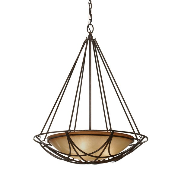 Feiss El Nido 3 Light Mocha Bronze Chandelier