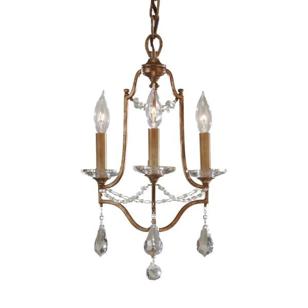 Feiss Valentina 3 Light Oxidized Bronze Chandelier