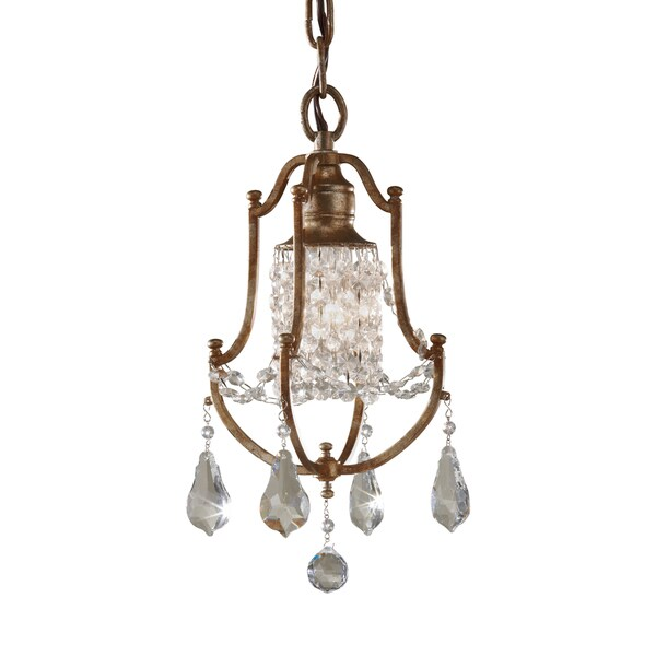 Feiss Valentina 1 Light Oxidized Bronze Chandelier
