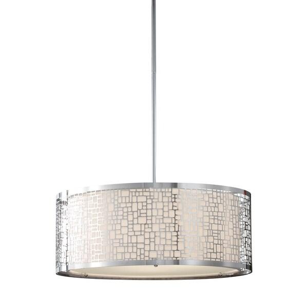 Feiss Joplin 3 Light Chrome Chandelier - Silver