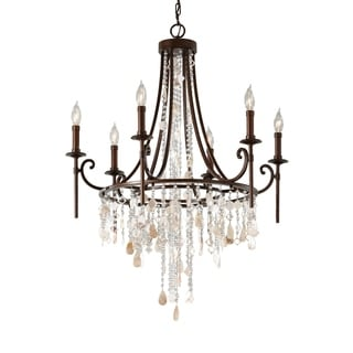 Feiss Cascade 6 Light Heritage Bronze Chandelier