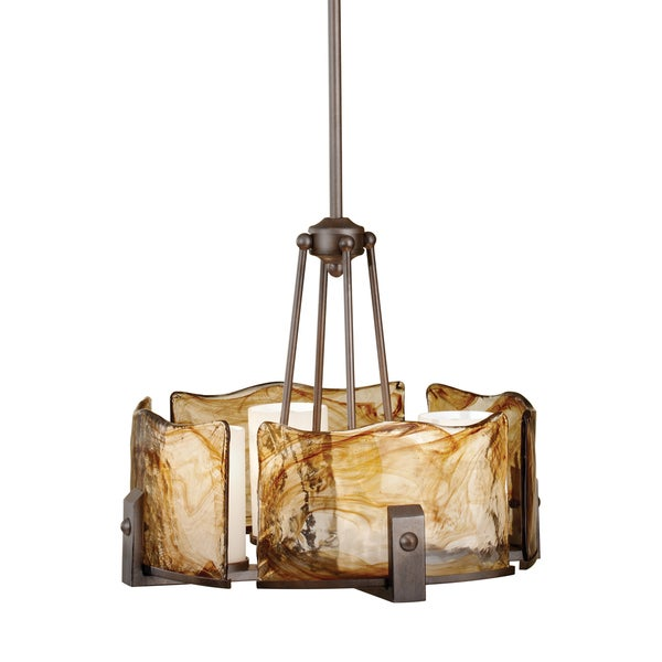 Feiss Aris 4 Light Roman Bronze Chandelier